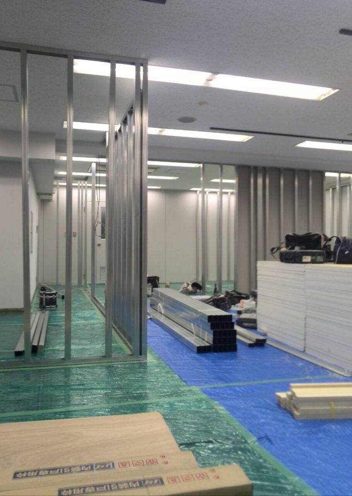 横浜市中区 テナントビル軽量間仕切り工事