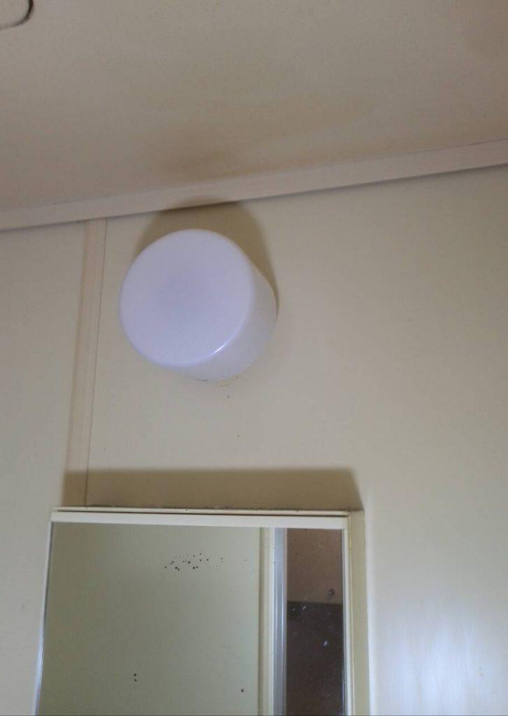 川崎市中原区 浴室照明器具交換工事