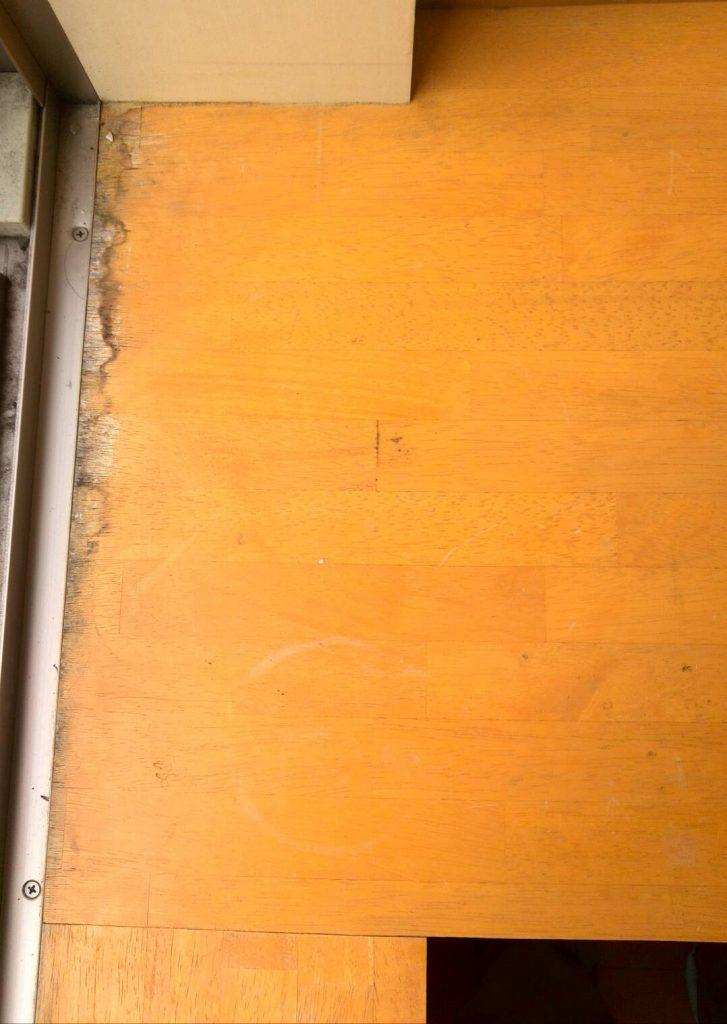 川崎市中原区 敷居下枠ペーパーがけ