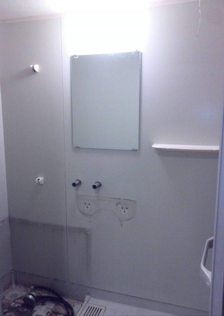 川崎市中原区 浴室シート張り工事