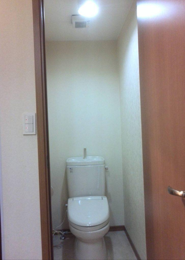大田区 トイレ壁紙張替え工事