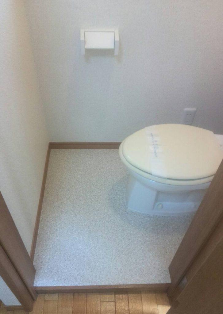 世田谷区 トイレ床張替え工事