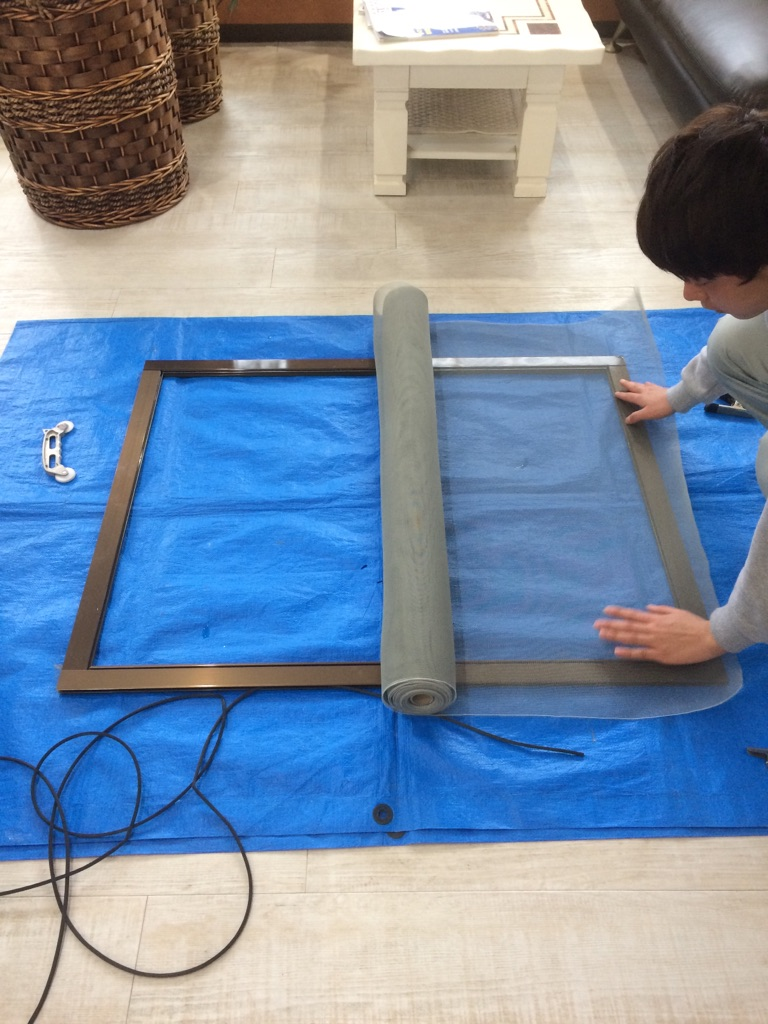 川崎市中原区 網戸張替え工事を行いました! | リフォーム東京