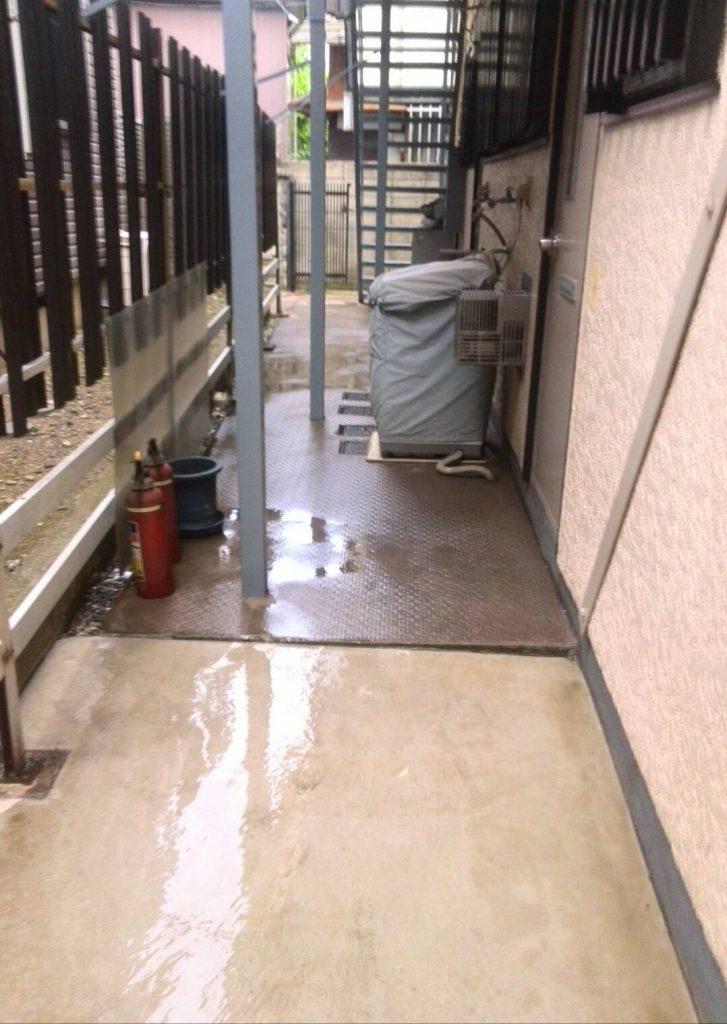 川崎市中原区 鉄骨階段塗装工事
