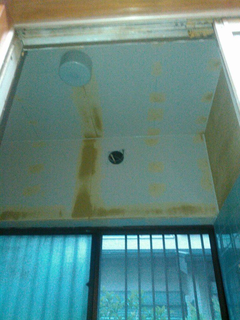 川崎市幸区 浴室天井ケイカル板貼り工事