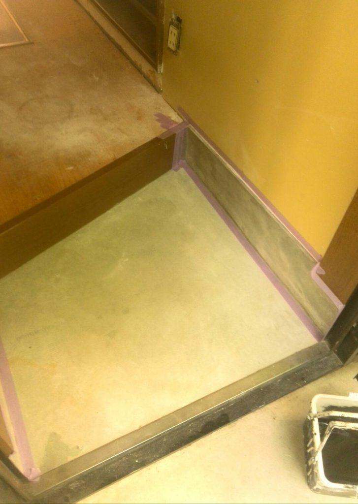 川崎市高津区 玄関コンクリート塗装工事