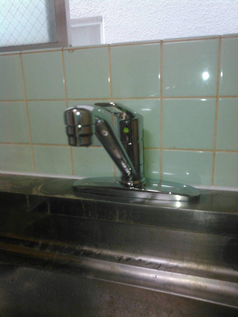川崎市多摩区 キッチン水栓交換工事を行いました ...