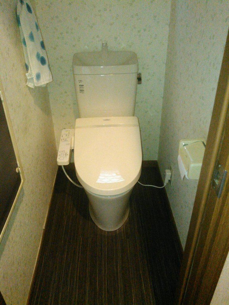 横浜市港北区 トイレ床張替え工事