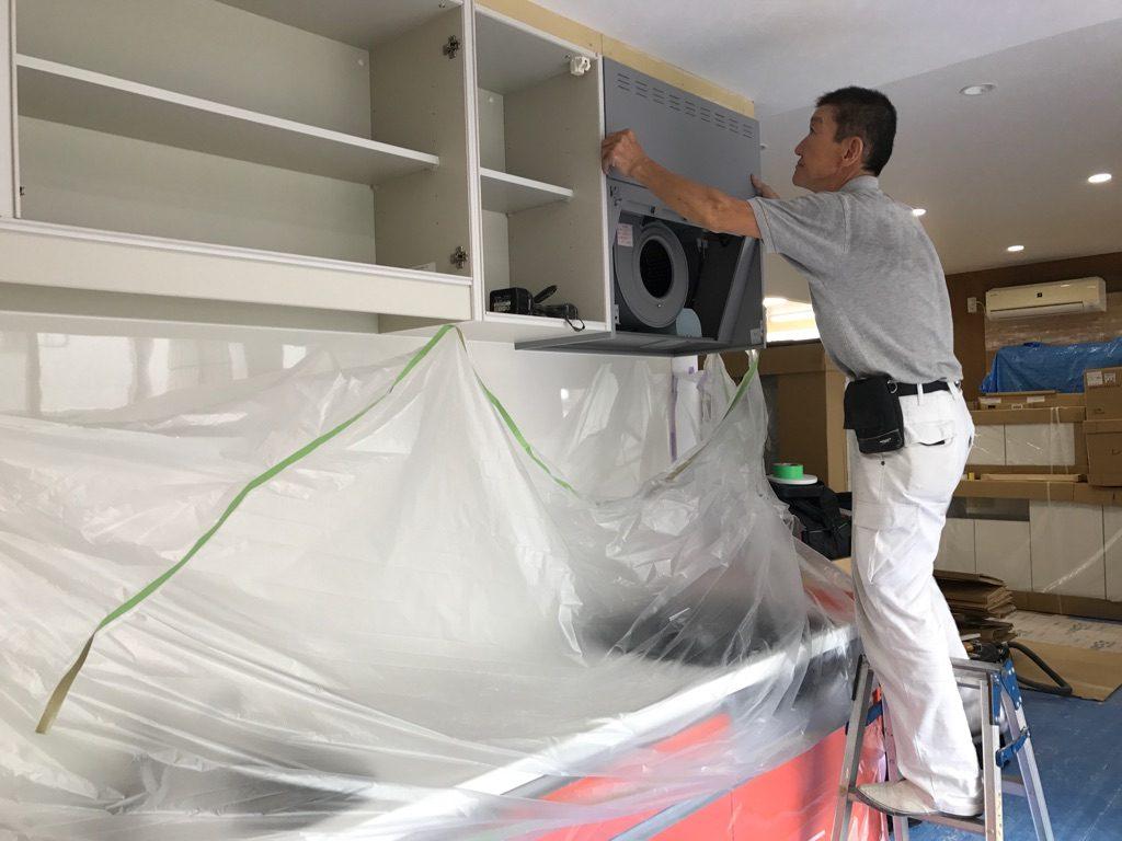 キッチン取付工事 川崎市中原区ショールーム