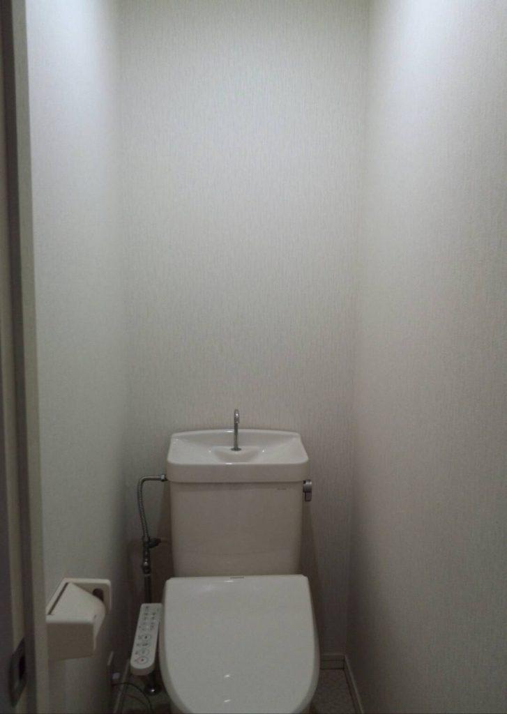 川崎市中原区 トイレ壁紙張替え工事