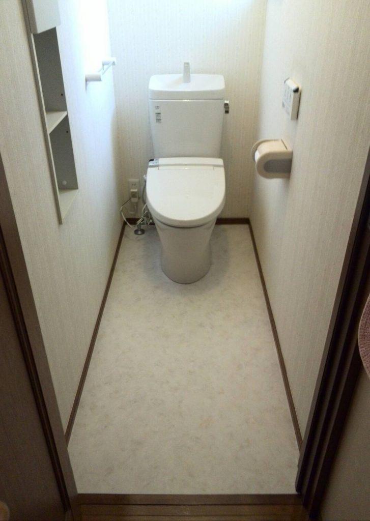横浜市港北区 トイレ交換・床CF張替え工事