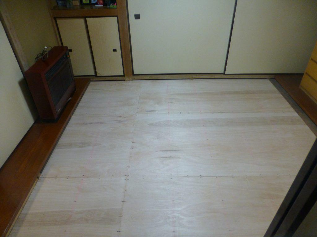 川崎市中原区 和室床ベニヤ張替え工事