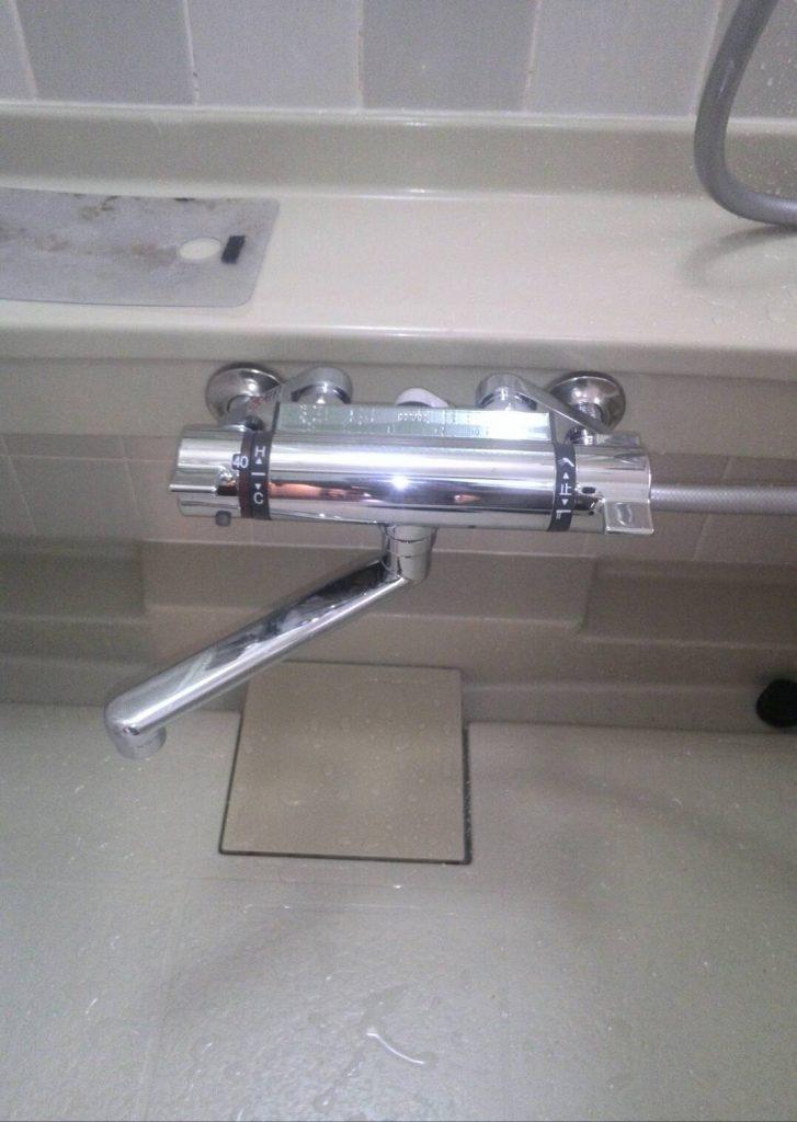 川崎市中原区 浴室蛇口交換工事